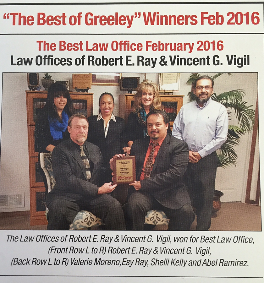 Best of Greeley 2016 Award